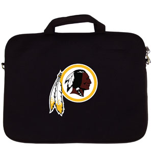"Washington Redskins Laptop Bag - Our Washington Redskins neoprene laptop bags is designed to fit 15"" and most 17"" laptops and are approved to pass airport security without removing the equipment from the bag. Some 17"" laptops are designed with a wider border and may not fit this bag. (inner bag dimensions: 11 ¾""t x 15""w) Officially licensed NFL product Licensee: Siskiyou Buckle Thank you for visiting CrazedOutSports.com"