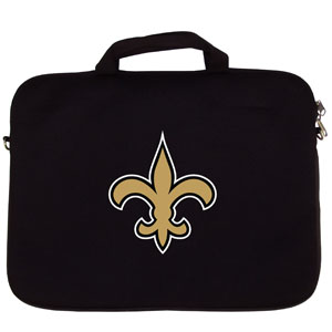"New Orleans Saints Laptop Bag - Our Seattle Seahawks neoprene laptop bags is designed to fit 15"" and most 17"" laptops and are approved to pass airport security without removing the equipment from the bag. Some 17"" laptops are designed with a wider border and may not fit this bag. (inner bag dimensions: 11 ¾""t x 15""w) Officially licensed NFL product Licensee: Siskiyou Buckle Thank you for visiting CrazedOutSports.com"