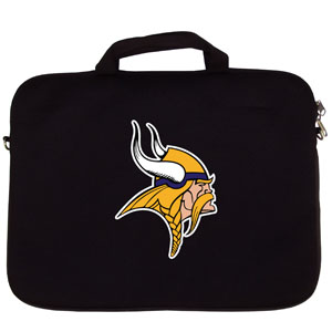 "Minnesota Vikings Laptop Bag - Our Minnesota Vikings neoprene laptop bags is designed to fit 15"" and most 17"" laptops and are approved to pass airport security without removing the equipment from the bag. Some 17"" laptops are designed with a wider border and may not fit this bag. (inner bag dimensions: 11 ¾""t x 15""w) Officially licensed NFL product Licensee: Siskiyou Buckle .com"