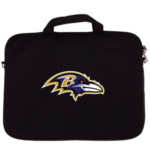 "Baltimore Ravens Laptop Bag - Our Baltimore Ravens neoprene laptop bags is designed to fit 15"" and most 17"" laptops and are approved to pass airport security without removing the equipment from the bag. Some 17"" laptops are designed with a wider border and may not fit this bag. (inner bag dimensions: 11 ¾""t x 15""w) Officially licensed NFL product Licensee: Siskiyou Buckle .com"