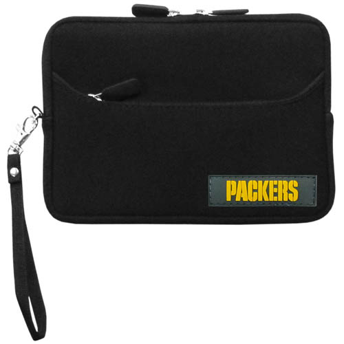 Green Bay Packers Neoprene eReader Tablet Case - Our officially licensed ereader tablet case is made of durable soft neoprene to protect your device from bumps and scratches. The case has a zippered closure, outer storage pocket and wrist strap.  Officially licensed NFL product Licensee: Siskiyou Buckle Thank you for visiting CrazedOutSports.com