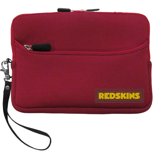 Washington Redskins Neoprene eReader Tablet Case - Our officially licensed ereader tablet case is made of durable soft neoprene to protect your device from bumps and scratches. The case has a zippered closure, outer storage pocket and wrist strap.  Officially licensed NFL product Licensee: Siskiyou Buckle Thank you for visiting CrazedOutSports.com