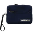 Seattle Seahawks Neoprene eReader Tablet Case - Our officially licensed ereader tablet case is made of durable soft neoprene to protect your device from bumps and scratches. The case has a zippered closure, outer storage pocket and wrist strap.  Officially licensed NFL product Licensee: Siskiyou Buckle .com