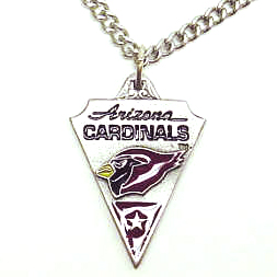 NFL Chain Necklace and Pendant - Arizona Cardinals  - Chain Necklace with Enameled NFL Team Pendant. A great way to show team spirit! Check out our entire line of licensed  jewelry.  - Arizona Cardinals  Officially licensed NFL product Licensee: Siskiyou Buckle .com