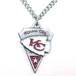 NFL Chain Necklace & Pendant - Chiefs - Chain Necklace with Enameled NFL Team Pendant. A great way to show team spirit! Check out our entire line of licensed  jewelry.  - Kansas City Chiefs  Officially licensed NFL product Licensee: Siskiyou Buckle Thank you for visiting CrazedOutSports.com