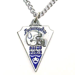 NFL Chain Necklace & Pendant - Indianapolis Colts - Chain Necklace with Enameled NFL Team Pendant. A great way to show team spirit! Check out our entire line of licensed  jewelry.  - Indianapolis Colts  Officially licensed NFL product Licensee: Siskiyou Buckle Thank you for visiting CrazedOutSports.com