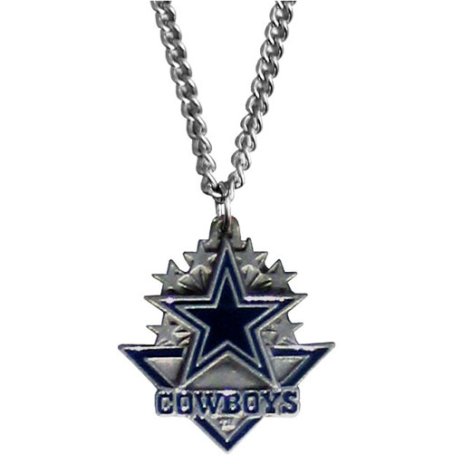 NFL Chain Necklace & Pendant - Dallas Cowboys - Chain Necklace with Enameled NFL Team Pendant. A great way to show team spirit! Check out our entire line of licensed  jewelry.  - Dallas Cowboys  Officially licensed NFL product Licensee: Siskiyou Buckle Thank you for visiting CrazedOutSports.com