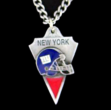 NFL Chain Necklace & Pendant - New York Giants - Chain Necklace with Enameled NFL Team Pendant. A great way to show team spirit! Check out our entire line of licensed  jewelry. - New York Giants   Officially licensed NFL product Licensee: Siskiyou Buckle Thank you for visiting CrazedOutSports.com
