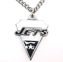 NFL Chain Necklace & Pendant - New York Jets - Chain Necklace with Enameled NFL Team Pendant. A great way to show New York Jets spirit! Check out our entire line of licensed  jewelry.  - New York Jets Officially licensed NFL product Licensee: Siskiyou Buckle Thank you for visiting CrazedOutSports.com