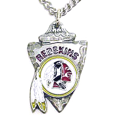 NFL Chain Necklace & Pendant - Washington Redskins - Chain Necklace with Enameled NFL Team Pendant. A great way to show team spirit! Check out our entire line of licensed  jewelry.  - Washington Redskins  Officially licensed NFL product Licensee: Siskiyou Buckle Thank you for visiting CrazedOutSports.com