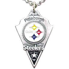 NFL Chain Necklace and Pendant - Pittsburgh Steelers - Chain Necklace with Enameled NFL Team Pendant. A great way to show team spirit! Check out our entire line of licensed  jewelry.  - Pittsburgh Steelers  Officially licensed NFL product Licensee: Siskiyou Buckle .com