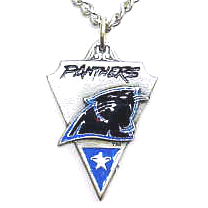 NFL Chain Necklace & Pendant - Carolina Panthers - Chain Necklace with Enameled NFL Team Pendant. A great way to show team spirit! Check out our entire line of licensed  jewelry.  - Carolina Panthers  Officially licensed NFL product Licensee: Siskiyou Buckle Thank you for visiting CrazedOutSports.com