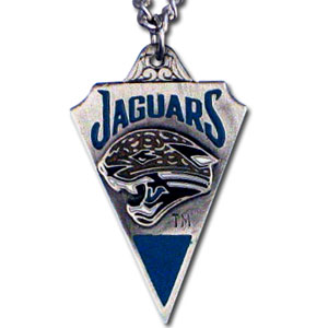 NFL Chain Necklace & Pendant - Jacksonville Jaguars - Chain Necklace with Enameled NFL Team Pendant. A great way to show team spirit! Check out our entire line of licensed  jewelry.  - Jacksonville Jaguars  Officially licensed NFL product Licensee: Siskiyou Buckle Thank you for visiting CrazedOutSports.com