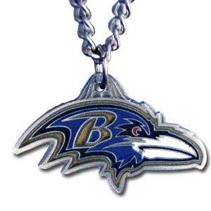 NFL Chain Necklace & Pendant - Baltimore Ravens - Chain Necklace with Enameled NFL Team Pendant. A great way to show team spirit! Check out our entire line of licensed  jewelry.  - Baltimore Ravens  Officially licensed NFL product Licensee: Siskiyou Buckle Thank you for visiting CrazedOutSports.com