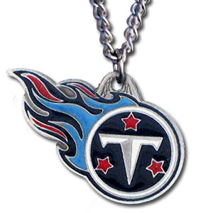 NFL Chain Necklace & Pendant - Tennessee Titans - Chain Necklace with Enameled NFL Team Pendant. A great way to show team spirit! Check out our entire line of licensed  jewelry.  - Tennessee Titans  Officially licensed NFL product Licensee: Siskiyou Buckle .com