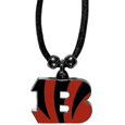 Cincinnati Bengals Cord Necklace - This classic style cotton cord necklace features an extra large Cincinnati Bengals pendant on a 21 inch cord. Officially licensed NFL product Licensee: Siskiyou Buckle. Thank you for visiting CrazedOutSports!