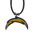 Los Angeles Chargers Cord Necklace - This classic style cotton cord Los Angeles Chargers necklace features an extra large Los Angeles Chargers pendant on a 21 inch cord. Officially licensed NFL product Licensee: Siskiyou Buckle. !