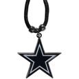 Dallas Cowboys Cord Necklace - This classic style cotton cord necklace features an extra large Dallas Cowboys pendant on a 21 inch cord. Officially licensed NFL product Licensee: Siskiyou Buckle. Thank you for visiting CrazedOutSports!