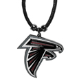 Atlanta Falcons Cord Necklace - This classic style cotton cord necklace features an extra large Atlanta Falcons pendant on a 21 inch cord.Officially licensed NFL product Licensee: Siskiyou Buckle. !