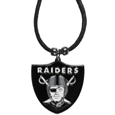 Oakland Raiders Cord Necklace - This classic style cotton cord necklace features an extra large Oakland Raiders pendant on a 21 inch cord. Officially licensed NFL product Licensee: Siskiyou Buckle. Thank you for visiting CrazedOutSports!