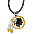 Washington Redskins Cord Necklace - This classic style cotton cord necklace features an extra large Washington Redskins pendant on a 21 inch cord.Officially licensed NFL product Licensee: Siskiyou Buckle. Thank you for visiting CrazedOutSports!