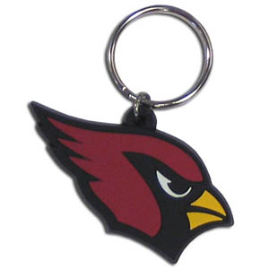 Cardinals Flexi Key Ring - Our NFL flexi key chains are logo cut and color filled. A great way to show off your team pride! Officially licensed NFL product Licensee: Siskiyou Buckle .com