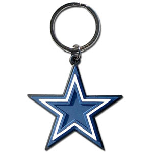 NFL Key Chain - Dallas Cowboys - Our NFL PVC key chains are logo cut and color filled. A great way to show off your team pride! Officially licensed NFL product Licensee: Siskiyou Buckle Thank you for visiting CrazedOutSports.com