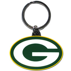 NFL Key Chain - Green Bay Packers - Our NFL PVC key chains are logo cut and color filled. A great way to show off your team pride! Officially licensed NFL product Licensee: Siskiyou Buckle .com