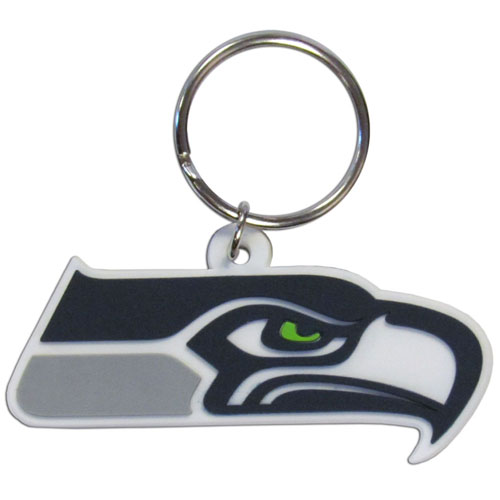 Seahawks Flexible Keyring - Our NFL Flexi key chains are made of a rubbery material that is layered cut in the Seattle Seahawks primary logo. Officially licensed NFL product Licensee: Siskiyou Buckle Thank you for visiting CrazedOutSports.com