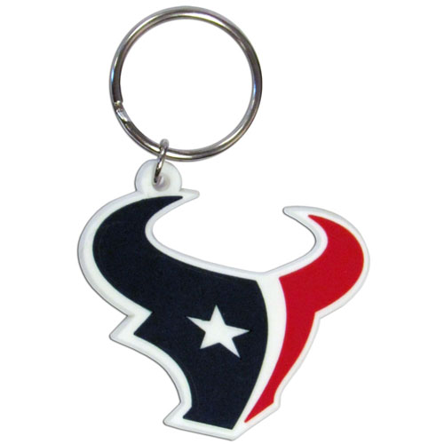 Texans Flexi Key Ring - Our NFL flexi key chains are logo cut and color filled. A great way to show off your team pride! Officially licensed NFL product Licensee: Siskiyou Buckle .com