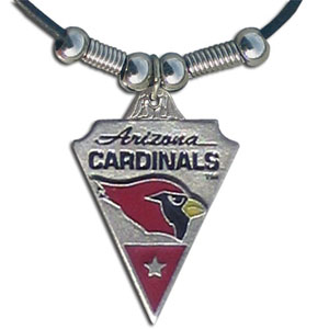 Leather NFL Necklace and Pendant - Arizona Cardinals - Arizona Cardinals  leather necklace with beads and enameled NFL Team Pendant. Check out our entire line of licensed  NFL merchandise! Officially licensed NFL product Licensee: Siskiyou Buckle .com