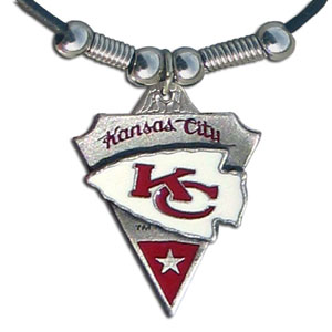 Leather NFL Necklace & Pendant - Kansas City Chiefs - Kansas City Chiefs  leather necklace with beads and enameled NFL Team Pendant. Check out our entire line of licensed  NFL merchandise! Officially licensed NFL product Licensee: Siskiyou Buckle Thank you for visiting CrazedOutSports.com
