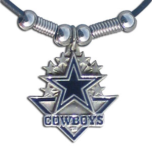 Leather NFL Necklace & Pendant - Dallas Cowboys - Dallas Cowboys  leather necklace with beads and enameled NFL Team Pendant. Check out our entire line of licensed  NFL merchandise! Officially licensed NFL product Licensee: Siskiyou Buckle .com