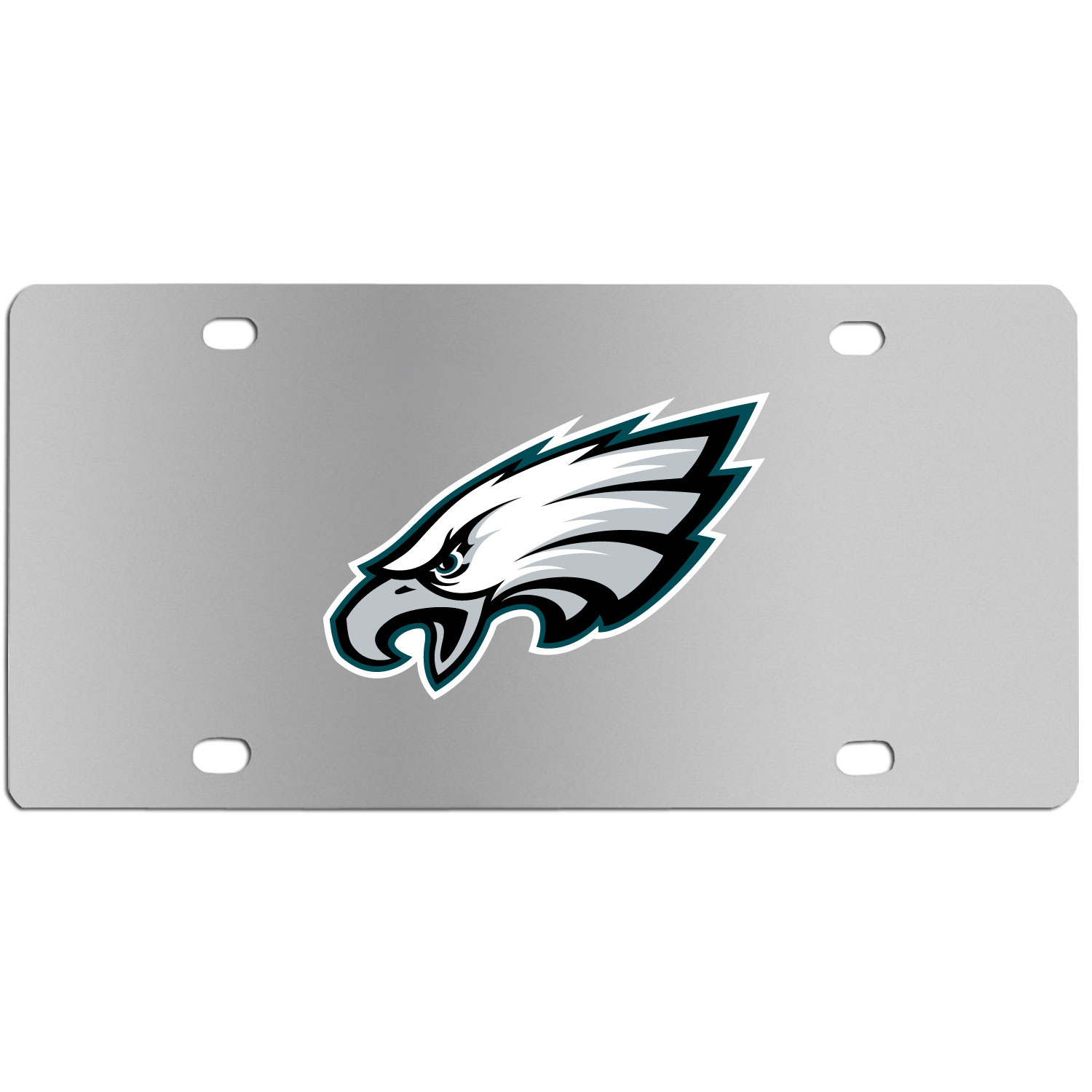 Philadelphia Eagles Steel License Plate Wall Plaque - This high-quality stainless steel license plate features a detailed team logo on a the polished surface. The attractive plate is perfect for wall mounting in your home or office to become the perfect die-hard Philadelphia Eagles fan decor.