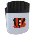 Cincinnati Bengals Clip Magnet - Use this attractive Cincinnati Bengals Clip Magnet to hold memos, photos or appointment cards on the fridge or take it down keep use it to clip bags shut. The Cincinnati Bengals Clip Magnet features a silk screened Cincinnati Bengals logo. Officially licensed NFL product Licensee: Siskiyou Buckle .com