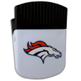 Denver Broncos Clip Magnet - Use this attractive Denver Broncos Clip Magnet to hold memos, photos or appointment cards on the fridge or take it down keep use it to clip bags shut. The Denver Broncos Clip Magnet features a silk screened Denver Broncos logo. Officially licensed NFL product Licensee: Siskiyou Buckle Thank you for visiting CrazedOutSports.com