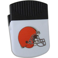 Cleveland Browns Clip Magnet - Use this attractive Cleveland Browns Clip Magnet to hold memos, photos or appointment cards on the fridge or take it down keep use it to clip bags shut. The Cleveland Browns Clip Magnet features a silk screened Cleveland Browns logo. Officially licensed NFL product Licensee: Siskiyou Buckle Thank you for visiting CrazedOutSports.com