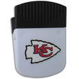 Kansas City Chiefs Clip Magnet - Use this attractive Kansas City Chiefs Clip Magnet to hold memos, photos or appointment cards on the fridge or take it down keep use it to clip bags shut. The Kansas City Chiefs Clip Magnet features a silk screened Kansas City Chiefs logo. Officially licensed NFL product Licensee: Siskiyou Buckle .com