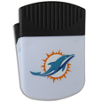 Miami Dolphins Clip Magnet - Use this attractive Miami Dolphins Clip Magnet to hold memos, photos or appointment cards on the fridge or take it down keep use it to clip bags shut. The Miami Dolphins Clip Magnet features a silk screened Miami Dolphins logo. Officially licensed NFL product Licensee: Siskiyou Buckle .com
