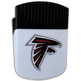 Atlanta Falcons Clip Magnet - Use this attractive Atlanta Falcons Clip Magnet to hold memos, photos or appointment cards on the fridge or take it down keep use it to clip bags shut. The Atlanta Falcons Clip Magnet features a silk screened Atlanta Falcons logo. Officially licensed NFL product Licensee: Siskiyou Buckle .com