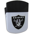 Oakland Raiders Clip Magnet - Use this attractive Oakland Raiders Clip Magnet to hold memos, photos or appointment cards on the fridge or take it down keep use it to clip bags shut. The Oakland Raiders Clip Magnet features a silk screened Oakland Raiders logo. Officially licensed NFL product Licensee: Siskiyou Buckle Thank you for visiting CrazedOutSports.com