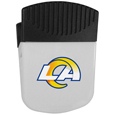 Los Angeles Rams Clip Magnet - Use this attractive Los Angeles Rams clip magnet to hold memos, photos or appointment cards on the fridge or take it down keep use it to clip bags shut. The Los Angeles Rams Clip Magnet features a silk screened Los Angeles Rams logo. Officially licensed NFL product Licensee: Siskiyou Buckle .com