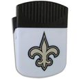 New Orleans Saints Clip Magnet - Use this attractive New Orleans Saints Clip Magnet to hold memos, photos or appointment cards on the fridge or take it down keep use it to clip bags shut. The New Orleans Saints Clip Magnet features a silk screened New Orleans Saints logo. Officially licensed NFL product Licensee: Siskiyou Buckle .com