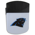 Carolina Panthers Clip Magnet - Use this attractive Carolina Panthers Clip Magnet to hold memos, photos or appointment cards on the fridge or take it down keep use it to clip bags shut. The Carolina Panthers Clip Magnet features a silk screened Carolina Panthers logo. Officially licensed NFL product Licensee: Siskiyou Buckle Thank you for visiting CrazedOutSports.com