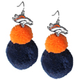 Denver Broncos Pom Pom Earrings