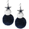 Dallas Cowboys Pom Pom Earrings