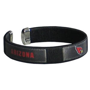 Arizona Cardinals Fan Band Bracelet - Our NFL Arizona Cardinals fan band is a one size fits all string cuff bracelets with a screen printed ribbon with the Arizona Cardinals team name and logo. Officially licensed NFL product Licensee: Siskiyou Buckle Thank you for visiting CrazedOutSports.com