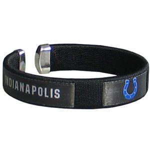 Indianapolis Colts Fan Band Bracelet - Our NFL Indianapolis Colts fan band is a one size fits all string cuff bracelets with a screen printed ribbon with the Indianapolis Colts name and Indianapolis Colts logo. Officially licensed NFL product Licensee: Siskiyou Buckle Thank you for visiting CrazedOutSports.com