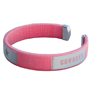 Dallas Cowboys Fan Band Bracelet - Our NFL Dallas Cowboys fan band is a one size fits all string cuff bracelets with a screen printed ribbon with the Dallas Cowboys team name and logo. Officially licensed NFL product Licensee: Siskiyou Buckle .com