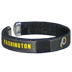 Washington Redskins Fan Band Bracelet - Our NFL Washington Redskins fan band is a one size fits all string cuff bracelets with a Washington Redskins screen printed ribbon with the Washington Redskins name and Washington Redskins logo. Officially licensed NFL product Licensee: Siskiyou Buckle Thank you for visiting CrazedOutSports.com